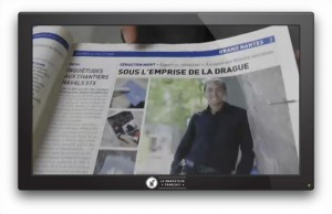 Photo: Interview en pleine page dans le journal 20 Minutes