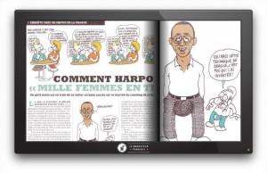 Photo:Reportage en pleine page dans Charlie Hebdo (avec une caricature en prime !)