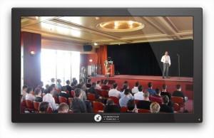 Photo: un de mes séminaires, pour lequel j'ai loué le 1er étage de la Tour Eiffel.