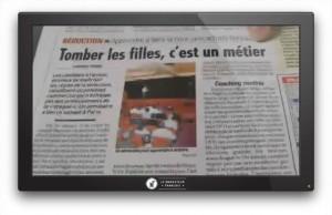 Photo:Reportage dans le journal France Soir au sujet de ses séminaires